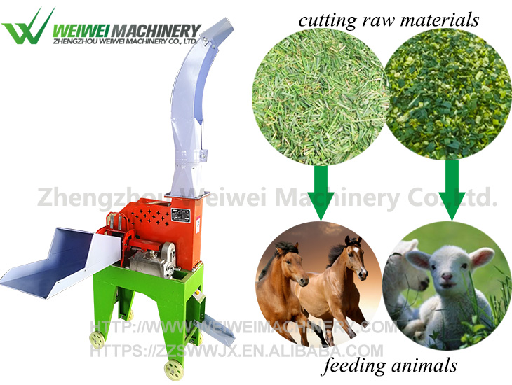 Weiwei feed cutter milking cow feed pellet production line