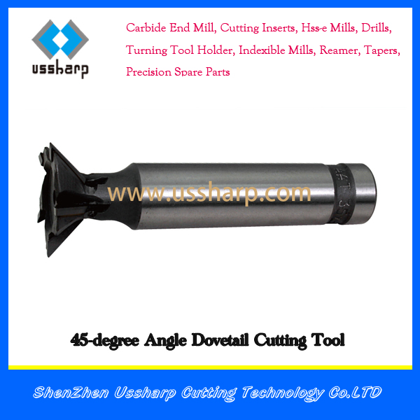 Cutting Tools Carbide Brazed Blade 45-degree Angle Dovetail end mills