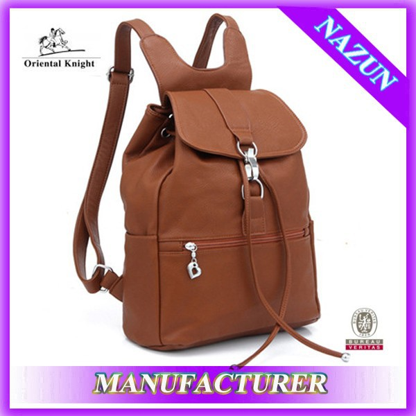 promotional high quality backpack, old fashion korean plain drawstring backpack ecole