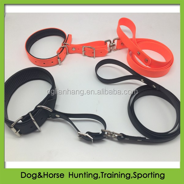 waterproof PVC Collar leash set soft padding for pet dog wholesale
