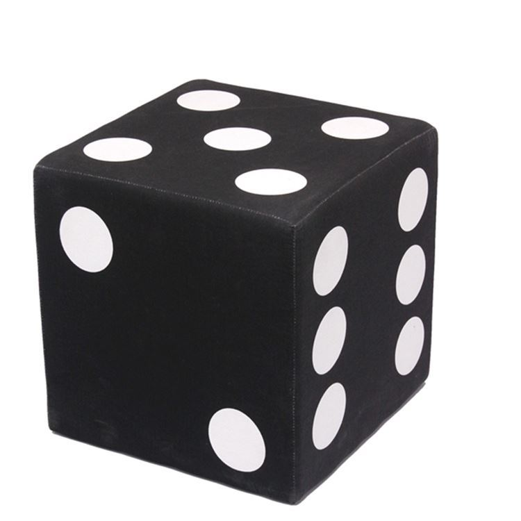 Muebles Al Por Mayor Desplegado Algodón Negro Dados Cubo Heces ...