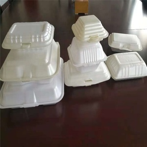 Haiyuan high quality take away food box making machine/foam lunch box/foam plate making machine