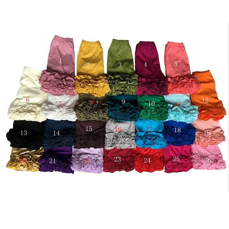 Wholesale many color baby cotton icing ruffle shorts boutique  kids clothing baby girls shorts