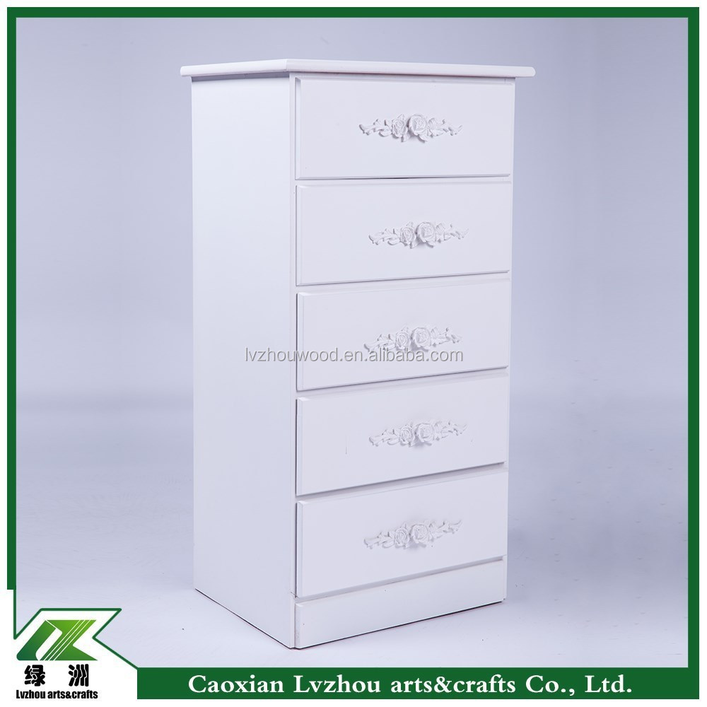 Modern White Several Drawers Storage Cabinet for Home or Office