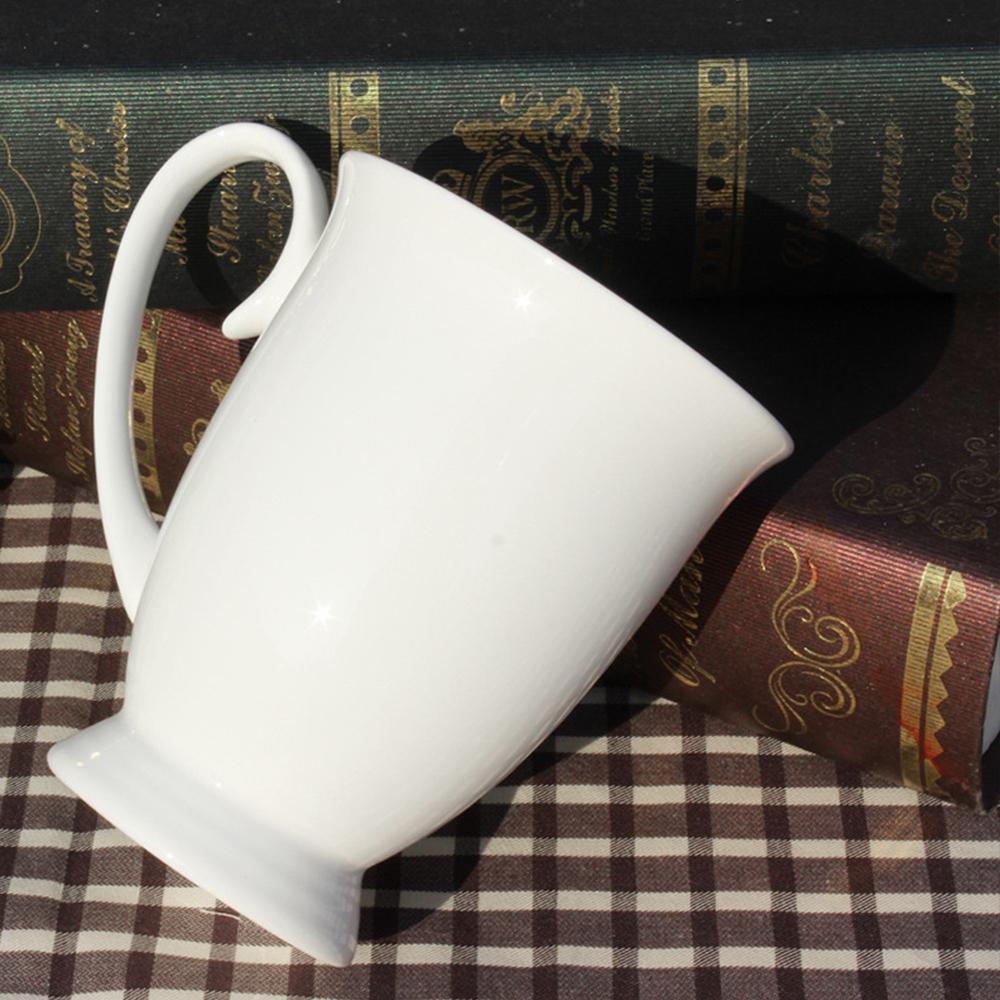 logo customized 11OZ Liling mug plain white ceramic cups new bone china footed mugs