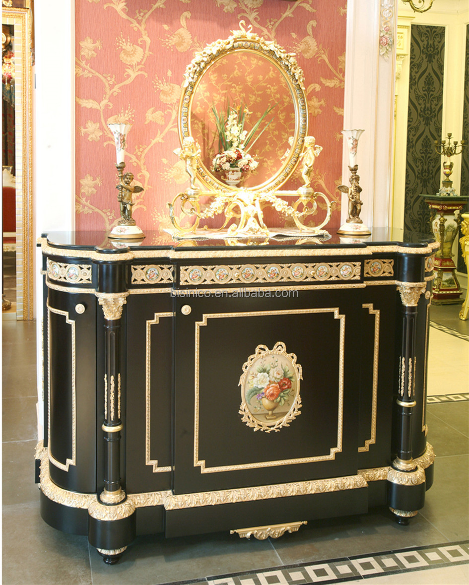 Luxury French Louis Xv Gilt Buffet Sideboard Cabinet