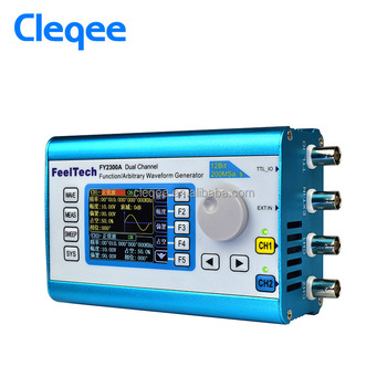 Cleqee Fy2300-12mhz Arbitrary Waveform Dual Channel High Frequency Signal  Generator 200msa/s 100mhz Frequency Meter - Buy Function Signal