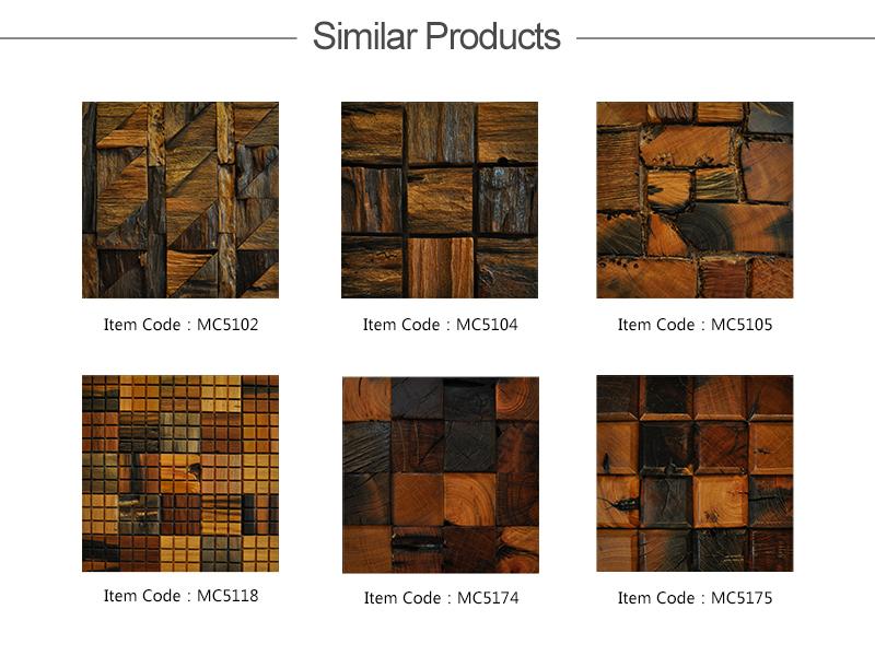 vh jy9024 1 artistic living room decorative wall tile backsplash tile ancient boat wood mosaic