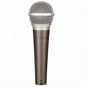 High quality metal body wired handheld microphone for karaoke