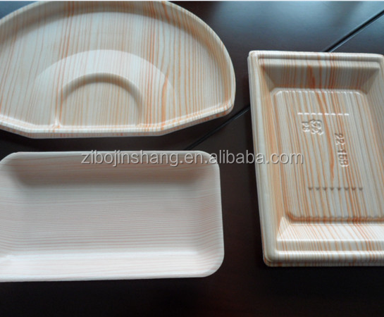 PS plastic disposable food grade frozen meat tray