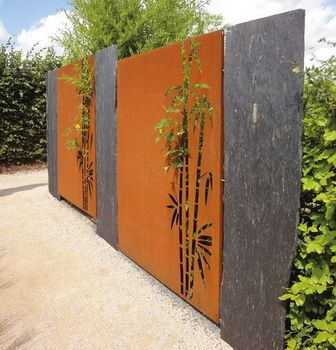 Corten Steel Metal Yard Fence Panels