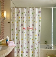 bathroom shower curtains water proof thickening bath curtain purple flowers