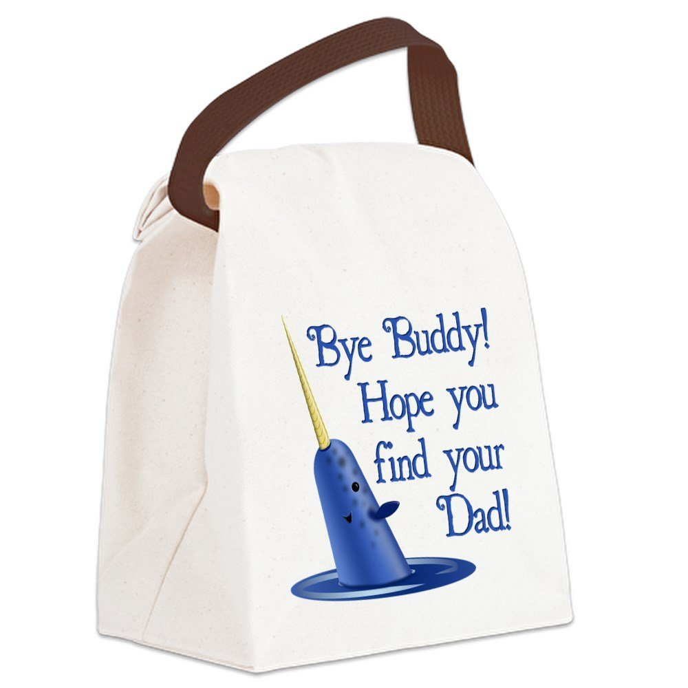 600d4c0d0 CafePress - Mr. Narwhal Quote from Elf Canvas Lunch Bag - Canvas Lunch Bag  with