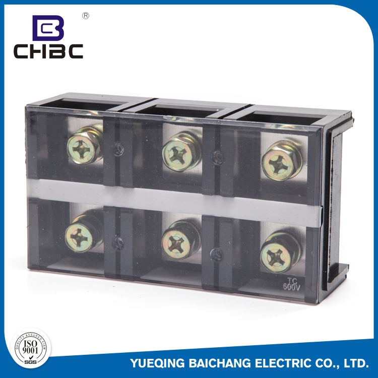 CHBC MOQ 100 Pair Low Voltage Electrical Plastic Cover Test Terminal Block