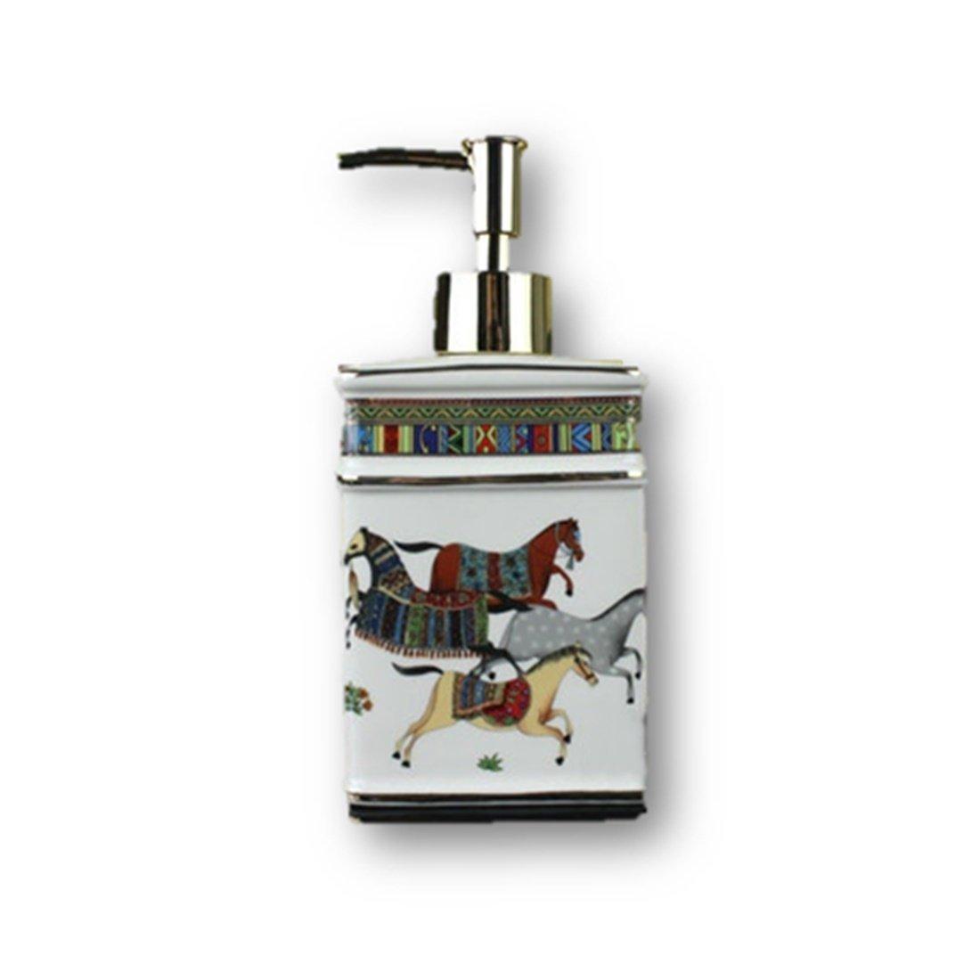 LightningStore Ceramic Soap Dispenser Ivory Porcelain God Horse Design Hand  Liquid Soap Dispensers Liquid Soap Dispenser
