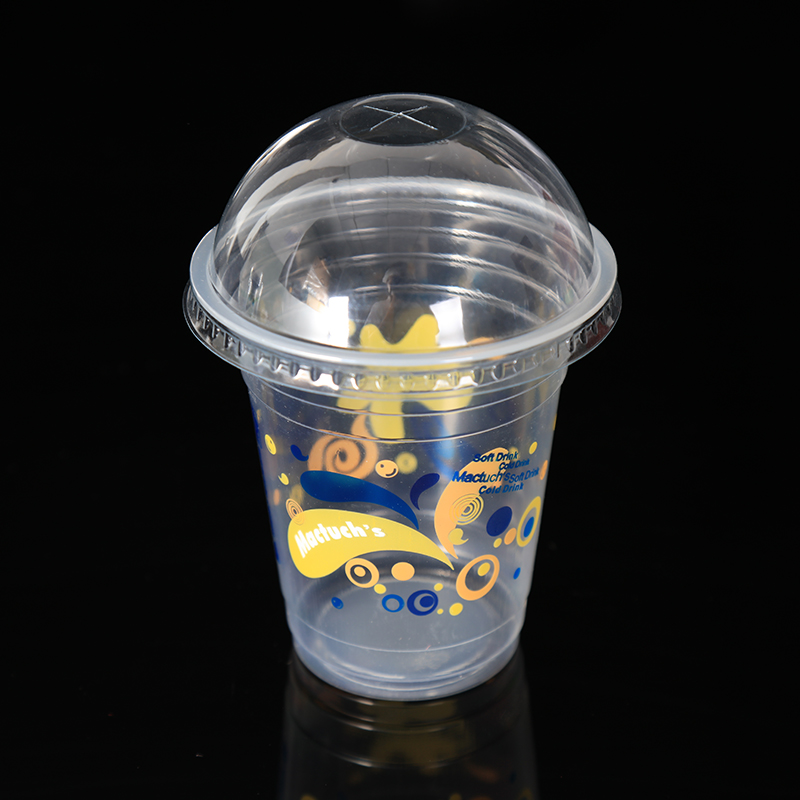 360ml PP material disposable plastic cup with lid