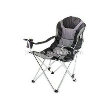 3 position outdoor reclining chair with oversized padded reclining camping chair foldable recliner chair