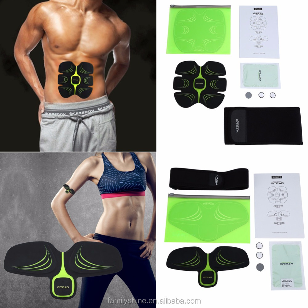 EMS muscle training suit Muscle Training Gel Sheet ABS Body Slimming Exercise Shape Fitness FS-839-180U
