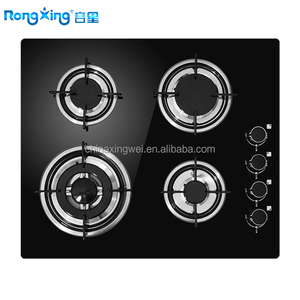 Built-in Glass Gas Hob with 4 burners