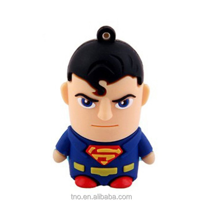 Promotion gift usb flash drive super heros PVC super man pedrive 1gb2gb4gb