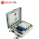 MT-1401 pole mount type outdoor PP plastic 8 core small FTTH access fiber optic terminal box with 1x8 PLC splitter