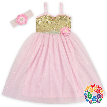 2019 New Arrival Baby Dress Fashion Design Small Girls Sequins Chiffon Dress Baby Girls Party Dress With Flower View Baby Dress Yh Baby Sequins Dress Product Details From Yiwu Yiyuan Garment Co