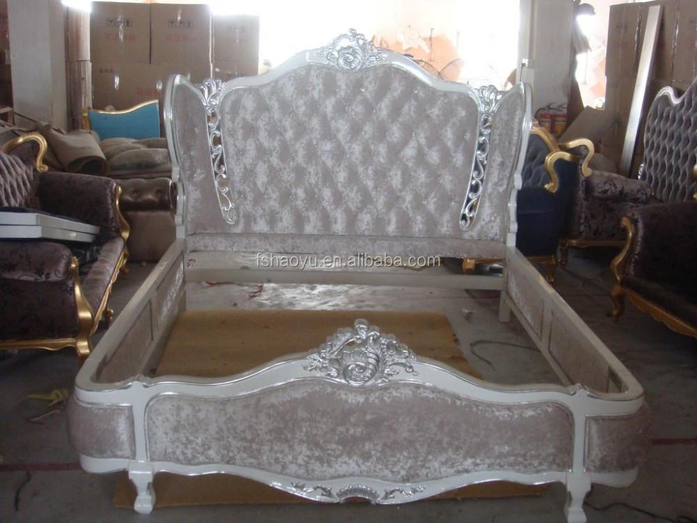 Antiguo cama de madera de estilo antiguos de madera - Cabeceros de cama antiguos ...