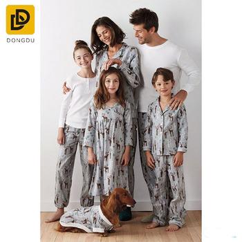 fc7efc4dac86 Custom 100 Cotton Family Flannel Pajamas Cheap Matching Family Pajamas
