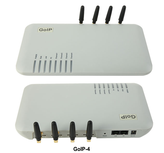 Quad Band GOIP-4 4-Channel VoIP GSM Gateway GSM network and VoIP network goip4 embedded SIP and H.323 protocols