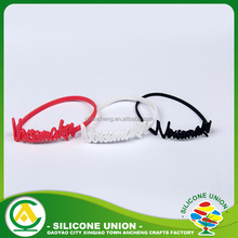 Bespoke typical elegant nice silicone elastic activity wristband