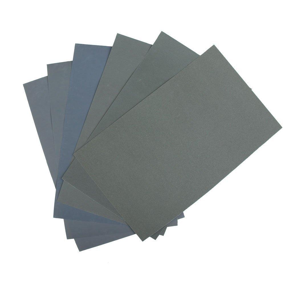 Waterproof Abrasive Paper - TOOGOO(R)6x Waterproof Abrasive Paper Sand Paper P600/1000/1200/1500/2000/2500