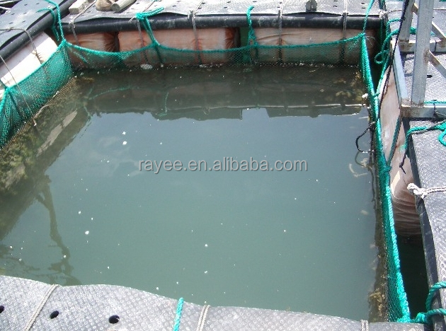 HDPE knotless or knotted inland, pond, lake net cage/ circular fish netting