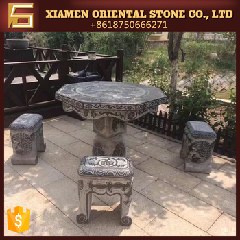 Chinese Outdoor Stone Chess Table For Garden Project