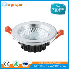 High luminance commercial recessed 5w cob led downlight