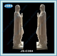 outdoor hand carved white marble virgin mary statue