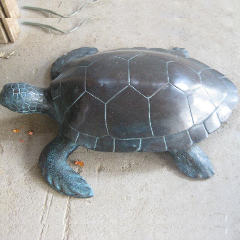Metal Casting Bronze Br Sea Turtle Sculpture For Outdoor Decoration