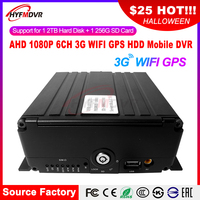 WIFI driving video surveillance host 6CH truck monitoring host 3G GPS remote positioning monitoring MDVR factory
