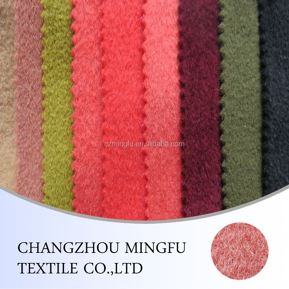 "Organic 100% wool fabrics, Wool fabric size:58"" all color for women winter coat/longhair mohair or nylon wool fabric"