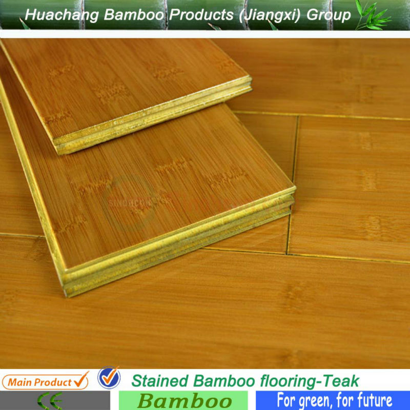 China Eco-friendly Stained Wood Pattern Printed Bamboo Flooring
