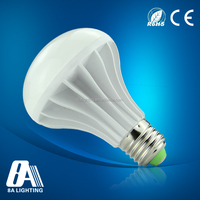 Plastic Aluminum 5W LED e27 day night light sensor led bulb