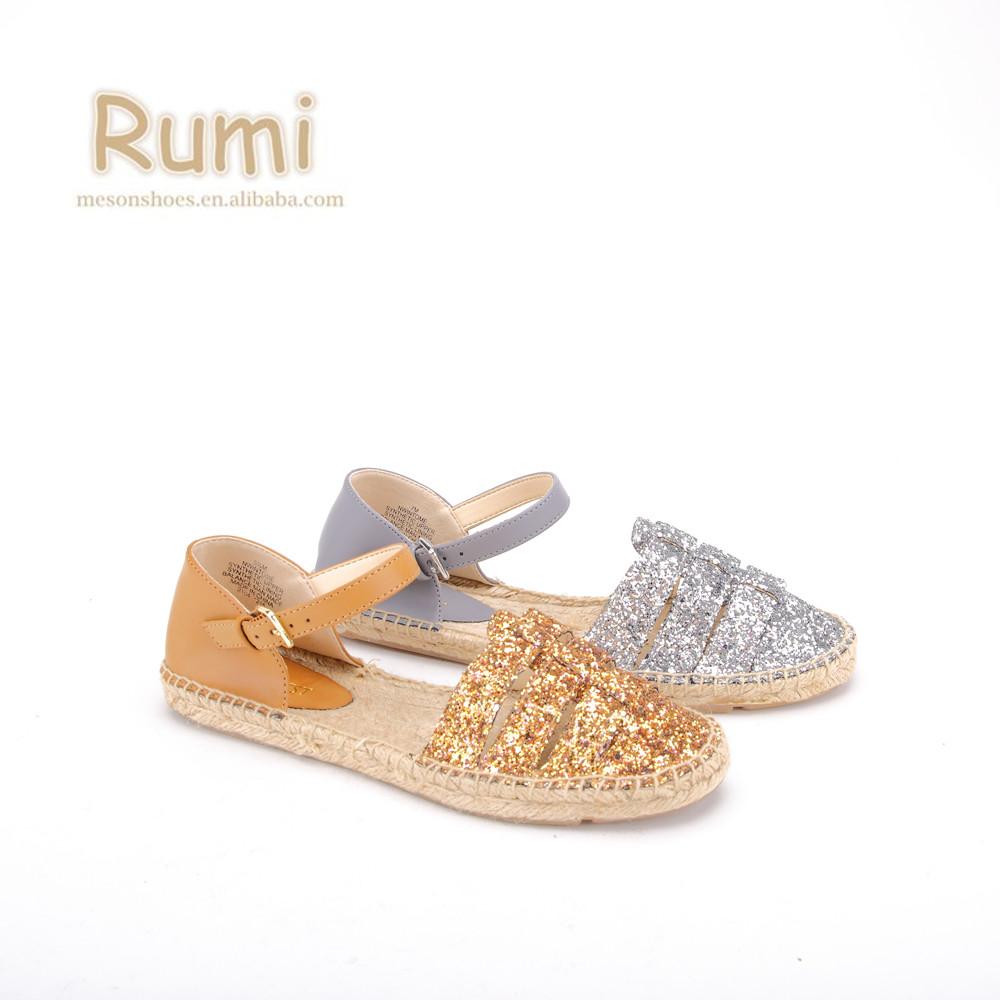 7e329556a92 Hot Products Glitter Jute Sole Female Modern Ladies Flat Espadrille Shoes