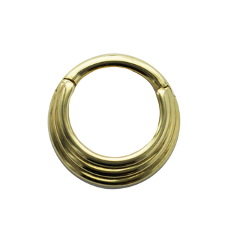 Astm F136 Implant Grade Titanium 3 Ring Triple Stack Hinged