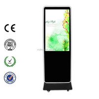 55'' super thin flat screen all in one touch floor stand lcd advertising player with Original