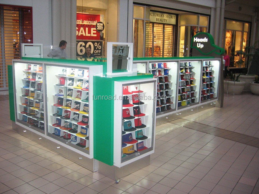 Fashion Sports Hats Kiosk Display For Nba In Mall - Buy Hat Stand ... cf5ee227c229