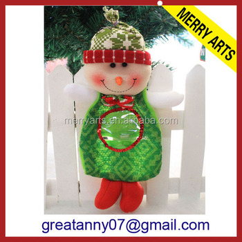 yiwu wholesale cheap oem animated christmas dolls handmade christmas snowman candy bag toy - Animated Christmas Dolls