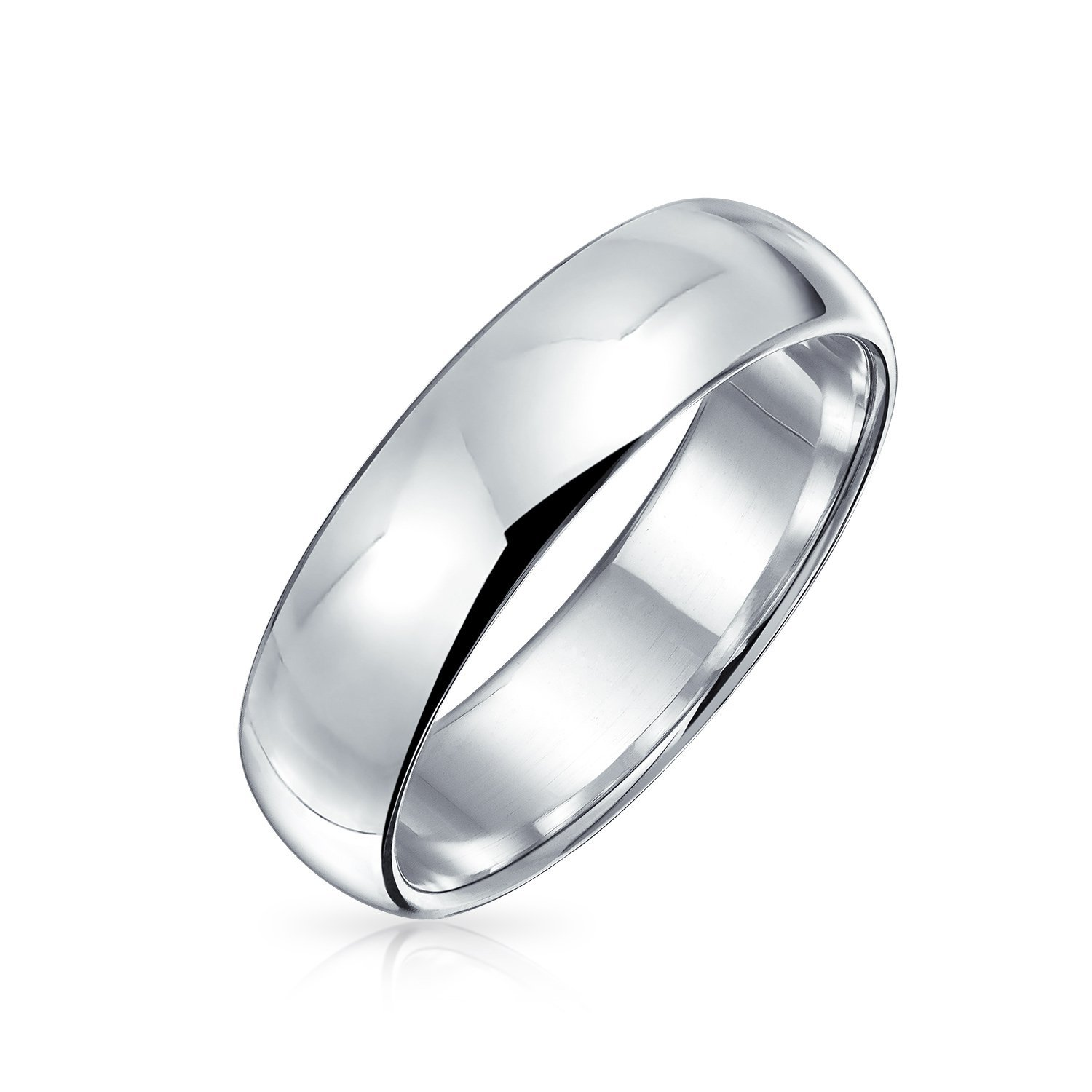 Get Quotations Polished 5mm Uni Sterling Silver Wedding Band