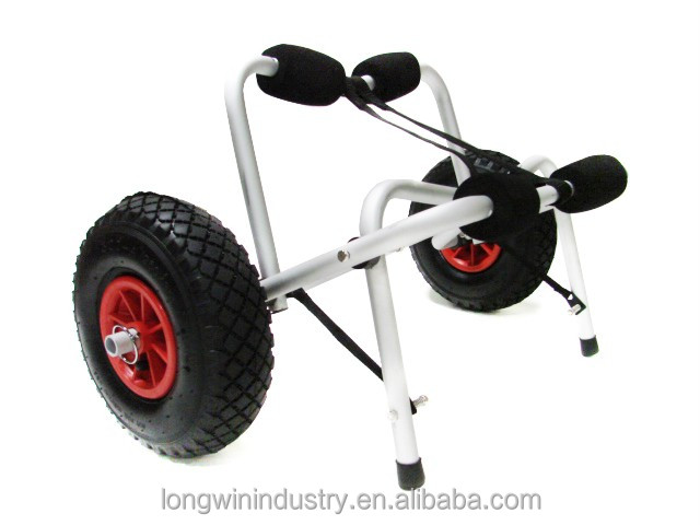 Professional made custom design folding promotional kayak cart,boat trolley