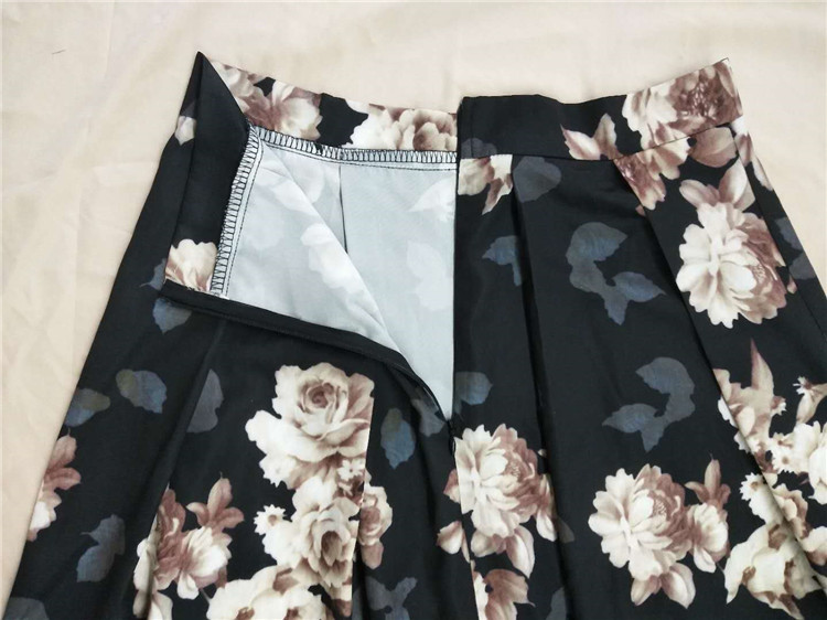 2019 Fashion Digital Flower Printing Skirts  for Muslim Lady in Stock
