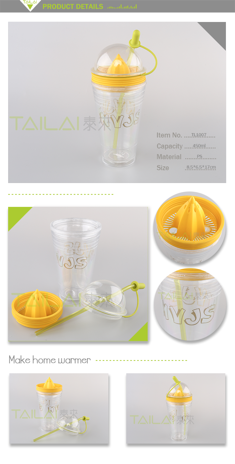 Best selling popular transparent custom printed plastic cup