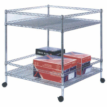 Home Used Epoxy Coated storables stacking wire shelving with casters